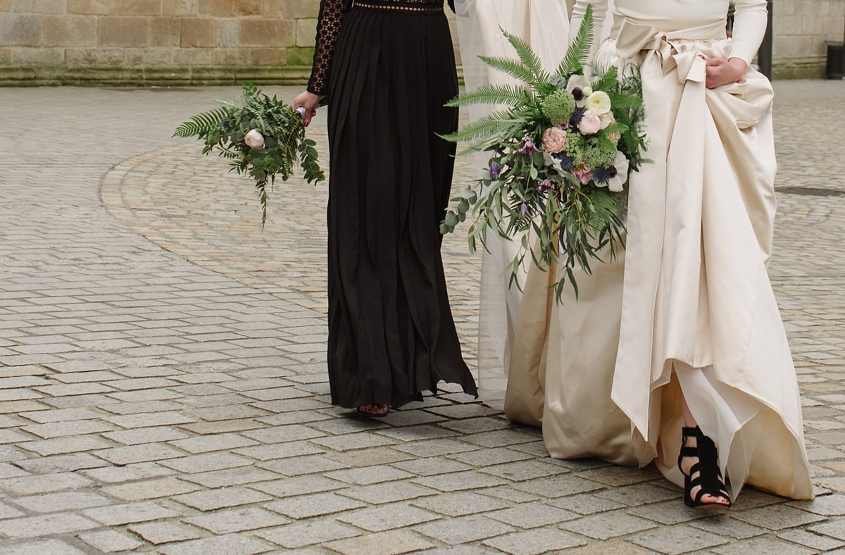long-sleeved-dress-French-cathedral-wedding